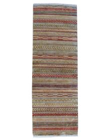 Handmade Short Narrow Afghan Gabbeh Runner